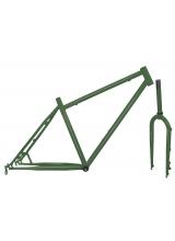 Kit Cadru+Furca Fat Bike Otel Verde Militar Mat