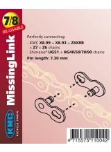Zala KMC Missing Link 3/32 7/8V Bolt-7.1mm Argintiu