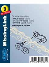 Zala KMC Missing Link 9V Bolt-6.6mm Standard Argintiu OEM