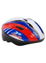 Casca de bicicleta Volare Deluxe, culoare rosu/albastru/alb, marime 51-55 cm