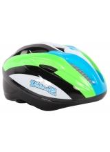 Casca de bicicleta Volare Deluxe, culoare verde, albastru, alb, negru, marime 51-55 cm