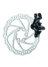 Set Frana Disc Mecanic 160mm Aluminiu/Otel Negru IS6