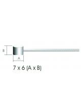 Cablu Frana Teflon 2m/1.5mm cap 6x7mm