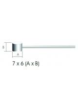 Cablu Frana Otel Inoxidabil 2m/1.5mm cap 6x7mm