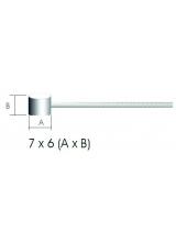 Cablu Frana Otel Galvanizat 2m/1.5mm cap 6x7mm