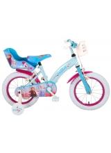Bicicleta pentru copii Disney Frozen 2 - Fete - 14 inch - Albastru / Violet - 2 frane de mana culoare Albastru