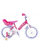Bicicleta pentru copii Disney Minnie Bow-Tique - Fete - 16 inch - Roz - 2 frane de mana culoare Roz/Mov