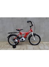 """Bicicleta copii, TEC Paradise, culoare rosu/alb, roata 16"""", cadru Otel, frana mana+contra"""