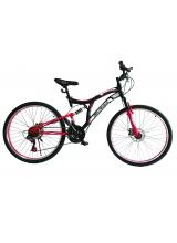 """Bicicleta MTB Full Suspensie Vision Kings 2D Culoare Negru/Rosu Roata 26"""" Otel"""