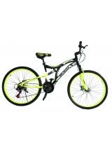 "Bicicleta MTB Full Suspensie Vision Kings 2D Culoare Negru/Verde Roata 26"" Otel"