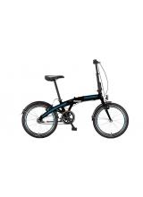 """Bicicleta Mosso Marine SR2 12 pliabila cadru aluminiu roata 20"""" culoare negru/albastru cu schimbator in butuc"""