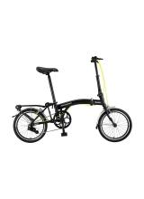 """Bicicleta Mosso Town 2D-pliabila cadru aluminiu roata 16"""" culoare negru/verde"""