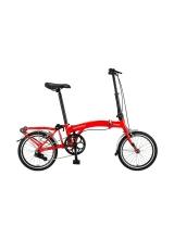 """Bicicleta Mosso Town 2D-pliabila cadru aluminiu roata 16"""" culoare Rosu"""