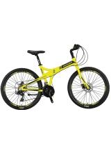 """Bicicleta Mosso Marine 2D pliabila, Aluminiu , Roata 26"""" , Culoare Verde/Negru"""