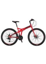 """Bicicleta Mosso Marine 2D pliabila, Aluminiu , Roata 26"""" , Culoare Negru/Rosu"""