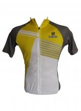 Tricou Ciclism Culoare Gri/Galben Marime XS