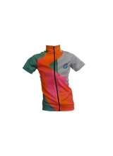 Tricou Ciclism Copii Verde/Roz Marime 10 Ani