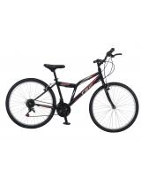 """Bicicleta MTB TEC Reis , Culoare negru/rosu , Roata 26"""" Otel"""