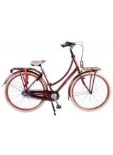 SALUTONI Bicicleta excelenta pentru adulti - Femei - 28 inch - 50 centimetri - Bordeaux - Shimano Nexus 3 trepte - 95% asamblate