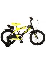 Bicicleta pentru copii Volare Sportivo - Baieti - 16 inch - Neon Yellow Black - 95 asamblat culoare Negru/Galben neon