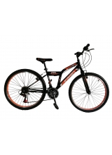 """Bicicleta MTB Vision Steel Man Culoare Negru/Portocaliu Roata 26"""" Otel"""