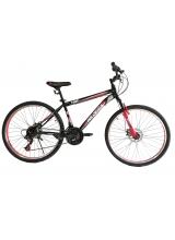 """Bicicleta MTB Vision Tiger 2D Suspensie Fata Culoare Negru/Rosu Roata 26"""" Otel"""