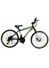 """Bicicleta MTB Vision Tiger 2D Suspensie Fata Culoare Negru/Verde Roata 26"""" Otel"""