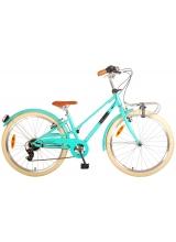 Bicicleta Volare Melody pentru copii - Fete - 24 inch - Turcoaz - 6 trepte - Prime Collection culoare Turcoaz