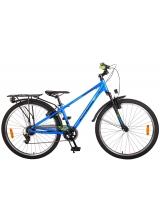 Bicicleta Volare Cross pentru copii - Baieti - 26 inch - Albastru - 7 trepte - Prime Collection culoare Albastru/Verde