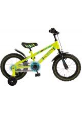 Bicicleta Volare Electric Green pentru copii - Baieti - 14 inch - Neon Green - 95 asamblat culoare Verde