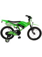 Bicicleta Volare Motobike pentru copii - Baieti - 16 inch - Verde - 95 asamblat culoare Verde