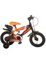 Bicicleta Volare Sportivo pentru baieti, 12 inch, culoare portocaliu-neon/negru, frana de mana fata - spate