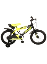 Bicicleta pentru copii Volare Sportivo - Baieti - 16 inch - Neon Yellow Black - Doua frane de mana - 95 asamblat culoare Negru/Galben neon