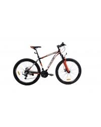 """Bicicleta MTB Camp XC 4.0, roata 26"""", aluminiu, frana mecanica pe disc, culoare portocaliu/negru, cadru 20"""