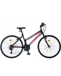"""Bicicleta MTB Dame Vision Venus Culoare Negru/Roz Roata 24"""" Otel"""