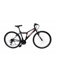 """Bicicleta MTB TEC Strong , culoare Negru/Rosu, roata 24"""", Otel"""