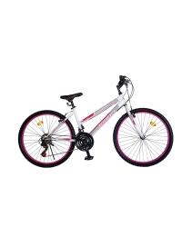 "Bicicleta MTB Dame Vision Venus Culoare Alb/Roz Roata 26"" Otel"