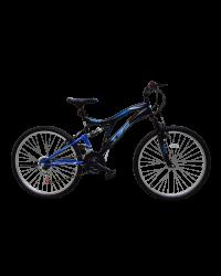 """Bicicleta MTB Tec Master full suspensie, roata 26"""", culoare Negru/Albastru"""