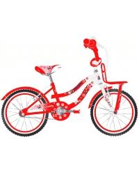 Bicicleta pentru fete Lovely, 20 inch, culoare rosu/alb, frana de mana fata - spate