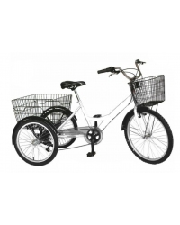 "Tricicleta Vision Cargo Transport , Roata 24"" ,  Culoare Alb , Otel"