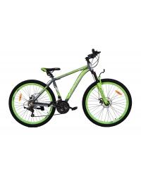 """Bicicleta MTB Camp XC 4.0, roata 26"""", aluminiu, frana mecanica pe disc, culoare gri/galben, cadru 18''"""