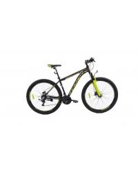"""Bicicleta MTB Camp XC 200, roata 27.5"""", aluminiu, frana pe disc hidraulica, culoare galben/negru, cadru 18"""""""