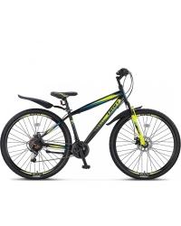 """Bicicleta MTB Umit Faster 2D, 21 viteze, culoare Negru/Lime, roata 27,5"""", cadru otel"""