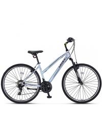 """Bicicleta Trekking Umit Quebec -L -21-SHM, Roata 28"""", Otel , Cadru 430mm, Culoare gri/negru"""