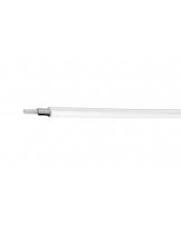 Teaca Cablu Frana Alligator Insertie PVC Ø5 Alb Pret la Metru