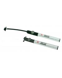 Pompa de mana, din aluminiu flexibila, cu manometru, lungime 26cm, valva AV,FV,DV