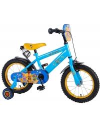 Bicicleta pentru copii Disney Toy Story 4, 14 inch, culoare albastru/galben, frana de mana + contra