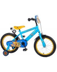 Bicicleta pentru copii Disney Toy Story 4, 16 inch, culoare albastru/galben, frana de mana + contra