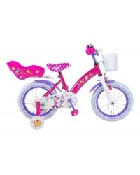 Bicicleta pentru copii Disney Minnie Bow-Tique - Fete - 14 inch - Roz - 95 asamblat culoare Roz/Mov