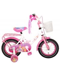 Bicicleta pentru copii Disney Princess - Fete - 12 inch - Roz - 95 asamblat culoare Alb/Roz